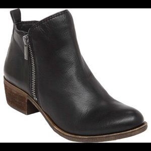 LUCKY BRAND Black Basel Leather Bootie size 8